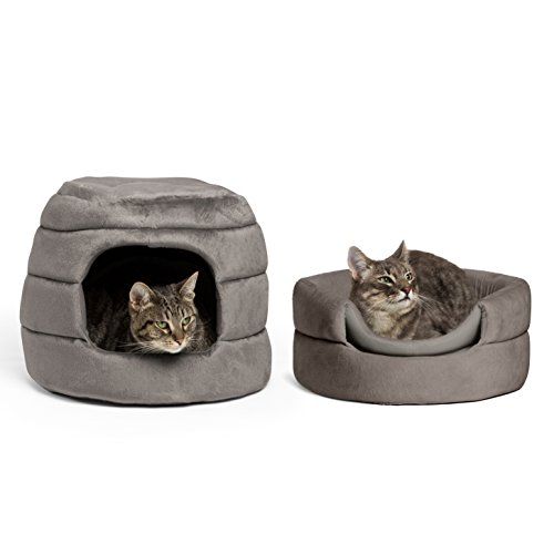 "Best Friends by Sheri 2-in-1 Honeycomb Hut-Cuddler in Bella, Grey, 16""x16""x13"""