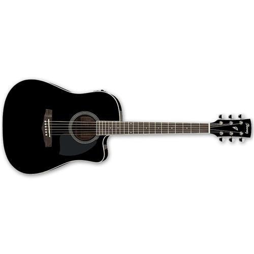 Ibanez PF Series PF15ECE Dreadnought Cutaway Acoustic-Electric Cutaway Guitar Gloss Black