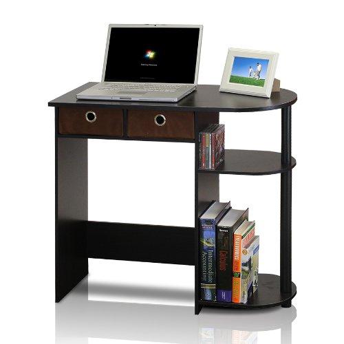 Furinno Go Green Home Laptop Notebook Computer Desk/Table, Espresso/Black/Brown