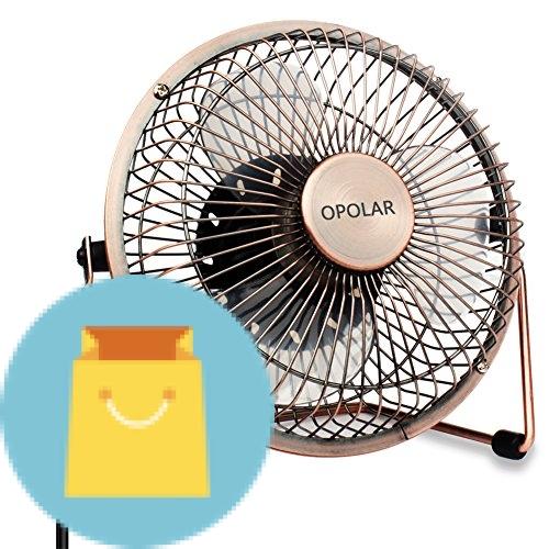 OPOLAR 6 Inch Desktop USB Fan, USB Powered, Personal Table Fan, Mini Cooling Fan, Small Desk Fan - Copper