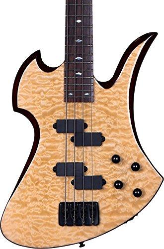 B.C. RICH Mk3B-MB4-QMP Mk3 Mockingbird Electric Bass Guitar, Quilted Maple