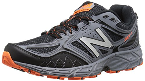 New Balance Men's 510v3 Trail Running Shoe, Black/Grey, 10.5 4E US