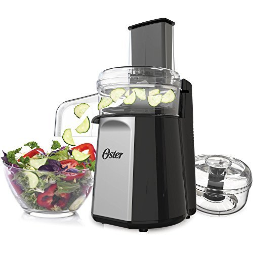 Oster Oskar 2-in-1 Salad Prep & Food Processor, Black