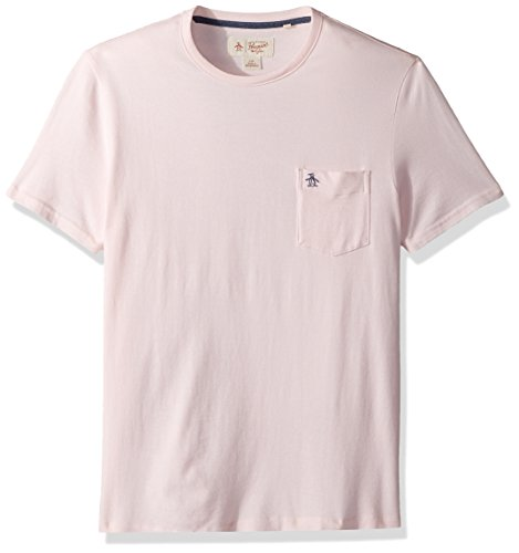 Original Penguin Men's Short Sleeve Jaspe Pocket Tee, impatiens Pink, Extra Large