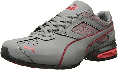 PUMA Men's Tazon 6 Fracture FM Sneaker, Quiet Shade-High Risk Red, 10.5 M US