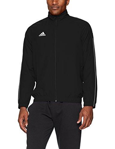adidas Men's Soccer Core18 Presentation Jacket, Black/White, Medium