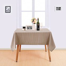 HomeHome, Garden And Tools Deconovo Checker Tablecloth Square Water  Resistant Table Cover Premium Striped Table Cloth For Dining Room 54W X 54L  Inch White ...