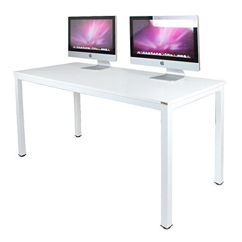 "Need Office Desk Computer Desk Large Size Table Game Table Wood, 63"", White"