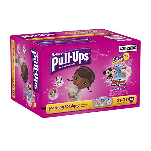 Huggies Pull-Ups Training Pants with Learning Designs for Girls, Size 2T-3T, 74 Count