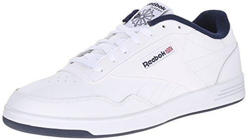 Reebok Men's Club MEMT Fashion Sneaker, White/Collegiate Navy, 10.5 4E US