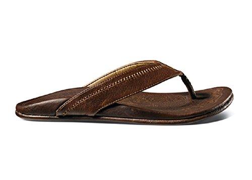 OluKai Hiapo Sandal - Men's Teak/Teak 11