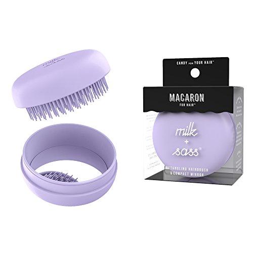 milk + sass Macaron Hair Brush, Lavender