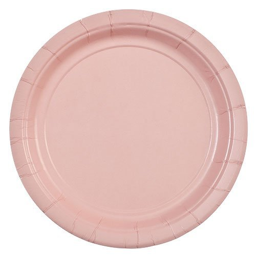 Party Dimensions 24 Count Paper Plate, 7-Inch, Pink