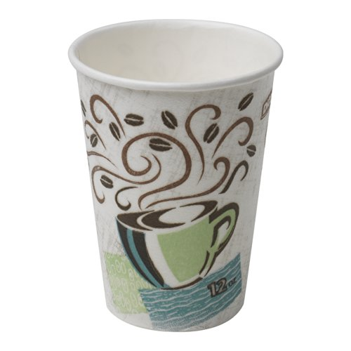 Dixie PerfecTouch 5342DX WiseSize Insulated Paper Cup, 12oz (Case of 20 Sleeves, 25 Cups per Sleeve)