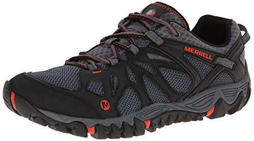 Merrell Men's All Out Blaze Aero Sport Hiking Water Shoe, Black/Red, 10.5 M US