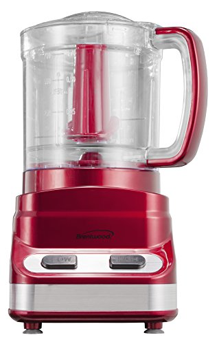 Brentwood 3-Cup Tone Color Food Processor, Red