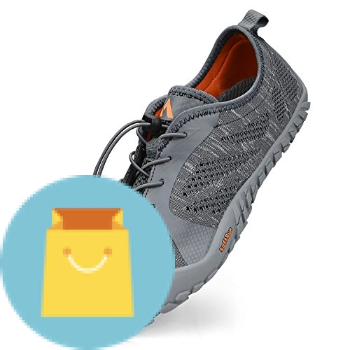 QANSI Mens Athletic Shoes Outdoor Hiking Shoes Mesh Breathable Barefoot Water Shoes Gym Sports Running Walking Shoes