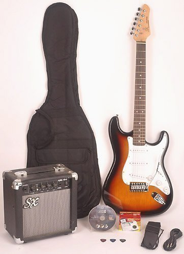 SX RST 3/4 3TS Short Scale Sunburst Guitar Package with Amp, Carry Bag and Instructional DVD