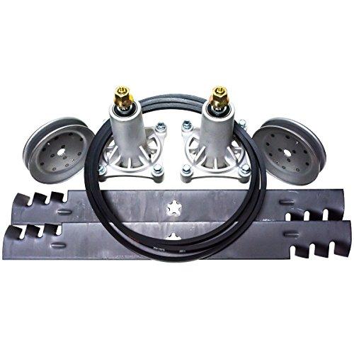 "Husqvarna 46"" Deck Kit Fits Poulan AYP Ariens Kit Replaces Spindles Blades Belt"