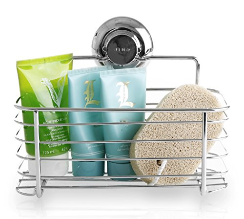 BINO SMARTSUCTION Rust Proof Stainless Steel Shower Caddy, Basket ...