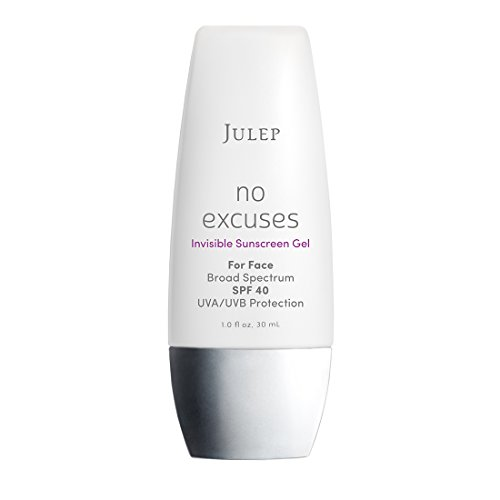 Julep No Excuses Invisible Facial Sunscreen Gel SPF 40 with Rosehip Seed Oil and Vitamin E