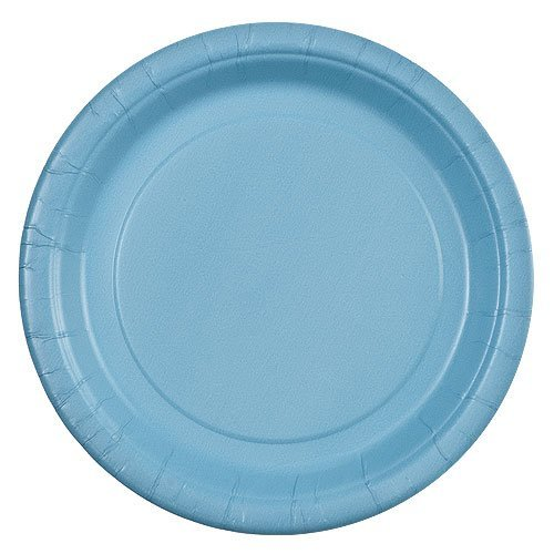 Party Dimensions 24 Count Paper Plate, 7-Inch, Light Blue