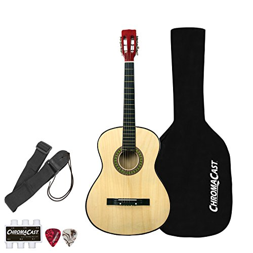Rise by Sawtooth Petite Size Steel String Beginner's Acoustic Guitar Pack, Natural