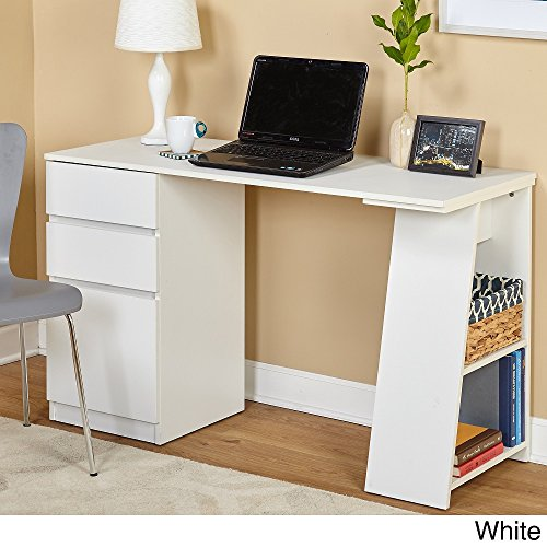 Simple Living Como Modern Writing Desk White