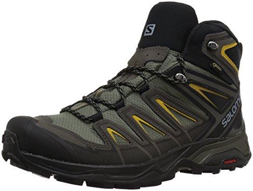 Salomon Men's X Ultra 3 Mid GTX Trail Running Shoe, Castor Gray, 10 M US