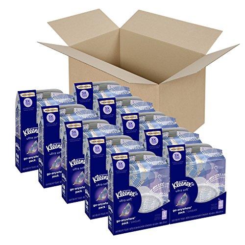 Kleenex Ultra Soft Go Anywhere Clip-On Facial Tissues, 30 Tissues per Travel Pack, 10 Packs