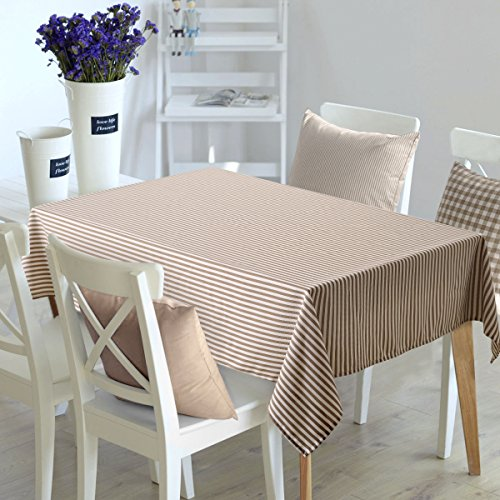 Incroyable Deconovo Checker Tablecloth Square Water Resistant Table Cover Premium Striped  Table Cloth For Dining Room 54W
