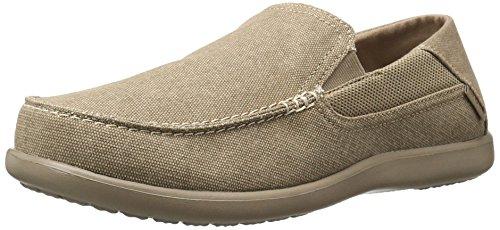 Crocs Men's Santa Cruz 2 Luxe M Slip-on Loafer, Khaki/Khaki, 14 D(M) US