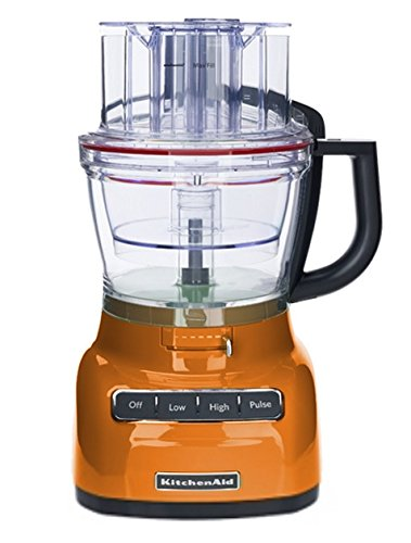 KitchenAid 9-Cup Food Processor with Exact Slice System (CERTIFIED REFURBISHED) Tangerine