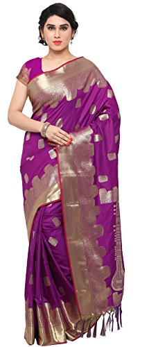 Aarah Women's Ethnic Wedding And Party Wear Classic Indian Pure Kanchippuram Silk Saree Free Size