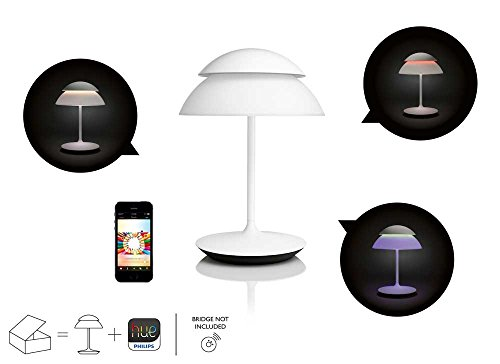 Philips Hue Beyond Dimmable LED Smart Table Lamp (White Works with Alexa Apple HomeKit and Google Assistant)