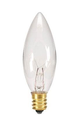 Replacement 7 watt 120 volt bulb for electric window candle lamp, 25 count by Darice