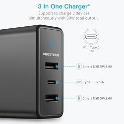 Type C Wall Charger for Google Pixel/Pixel XL/iPhone 8/iPhone 8 Plus/iPhone X/iPad Pro/HTC 10/Nexus 6P/5X/Lumia 950 and More