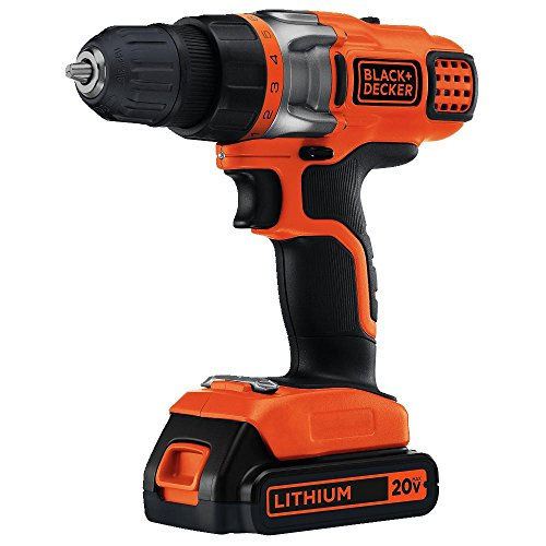 BLACK+DECKER 20V MAX 2-Speed Cordless Drill Driver (Includes Battery and Charger)