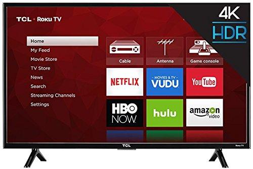 """TCL 43"""" 4K UHD HDR Roku Smart LED TV (Certified Refurbished)"""