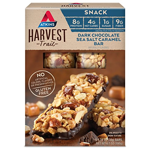 Atkins Harvest Trail Snack Bar, Dark Chocolate Sea Salt Caramel