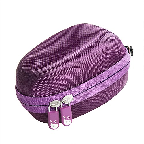 For Philips HP6401 Satinelle Epilator Electric Shaver Travel EVA Hard Protective Case Carrying Pouch Cover Bag Purple By Hermitshell