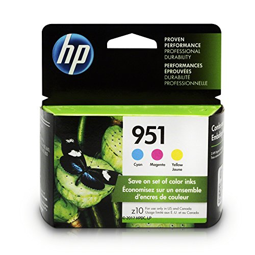 HP 951 Ink Cartridges: Cyan , Magenta & Yellow , 3 Ink Cartridges for HP Officejet Pro