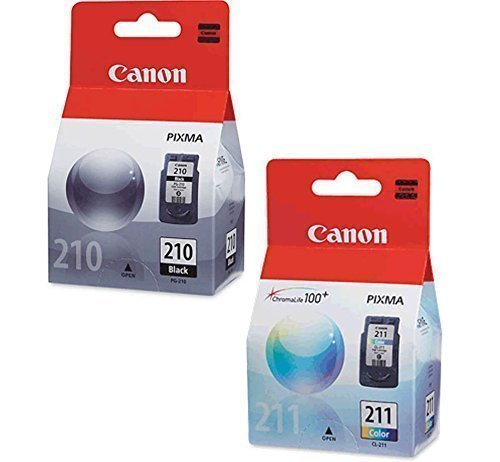 Canon PG-210 Black, CL-211 Color Ink Cartridge Set for Printers OEM