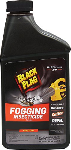 Black Flag Fogging Insecticide to Control Mosquitoes and Biting Flies Outdoors, 32-Ounce
