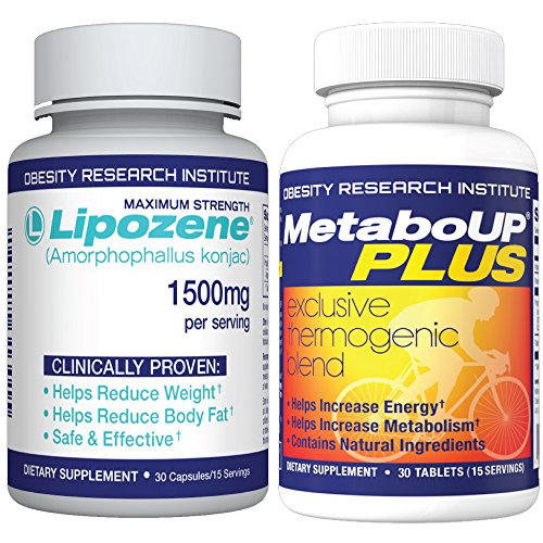 Lipozene Weight Loss Pills 30 Count and MetaboUp Plus 30 Count!