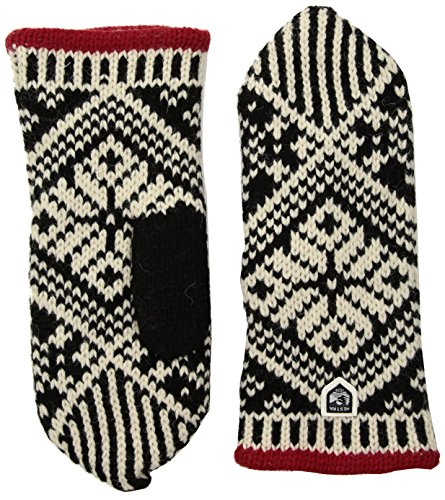 Hestra Womens Wool Mittens: Nordic Knit Winter Gloves
