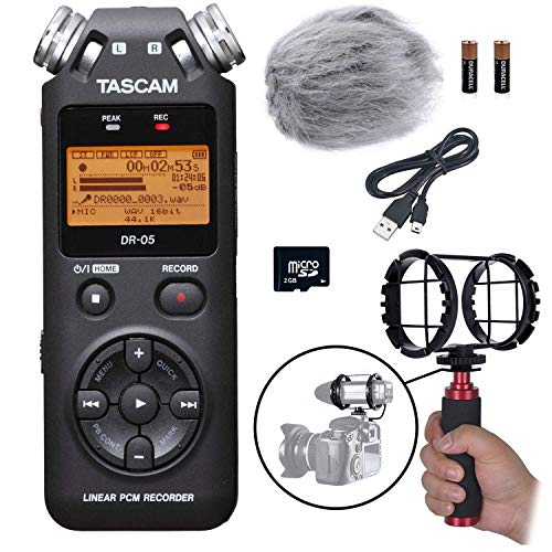 Tascam Portable Handheld Digital Audio Recorder Bundle