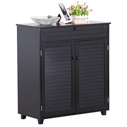 go2buy Shoe Rack 3 Shelf 1 Drawers 2 Doors Entryway