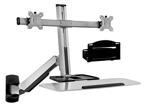 Sit Stand Wall Mount Workstation & Stand Up Computer Station