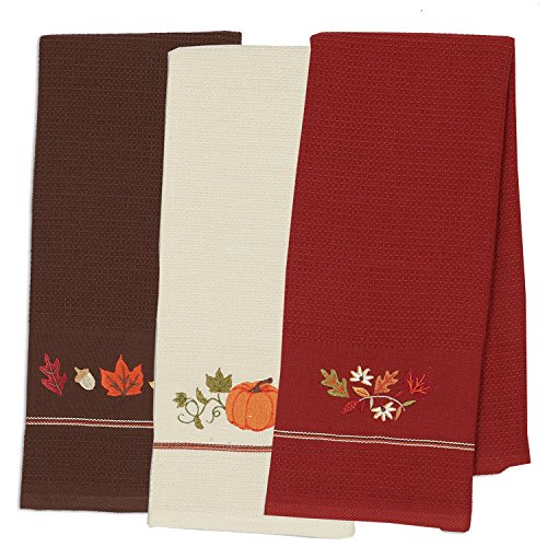 DII Cotton Thanksgiving Fall Holiday Decorative Dish Towels